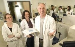 Prof. Arie Admon with his research team.