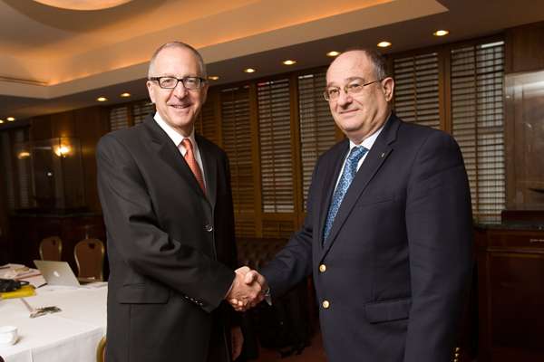 Cornell President Skorton and Lavie