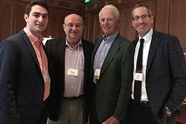 (l to r) Grandson Will Davison, Technion President Peretz Lavie, Richard Davison and his son, John Davison.