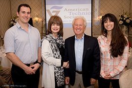 (l to r) Technion undergraduate Omer Amit, Palm Beach and Detroit Chapter supporters Lorraine and Alden Leib, and medical student Eliana Fischer.
