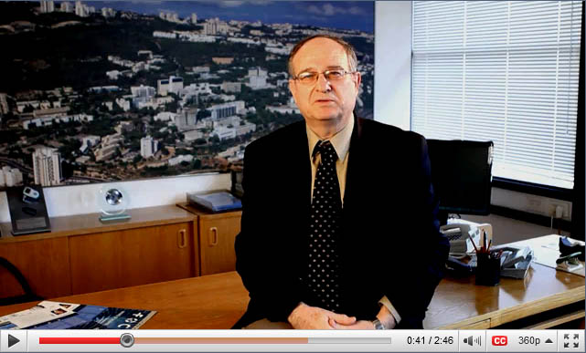View a special video message from Technion President